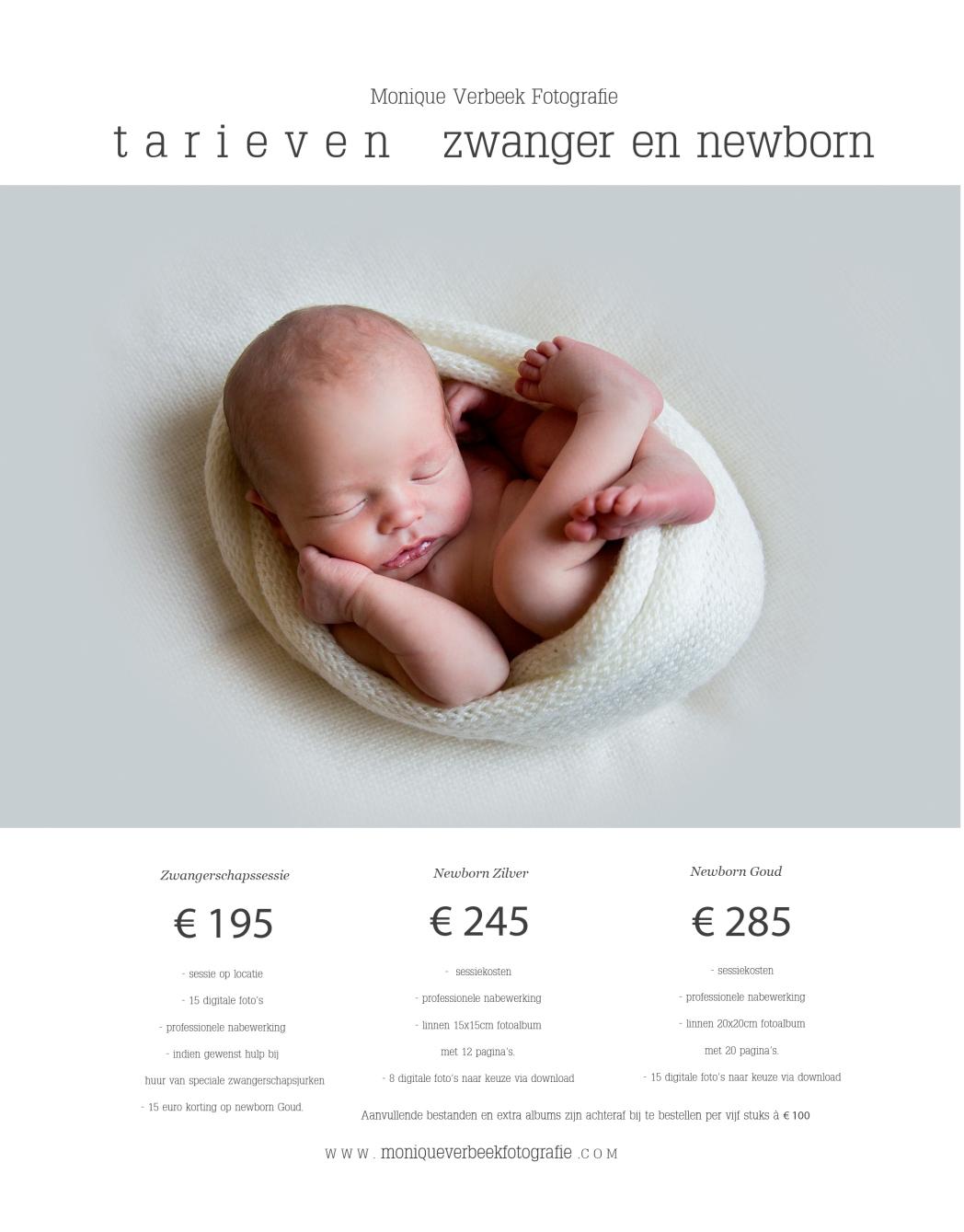 tarieven newbornsessie Utrecht